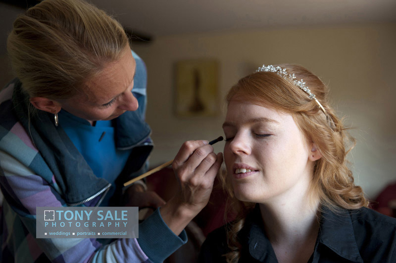 Bridal preparation Hedingham castle
