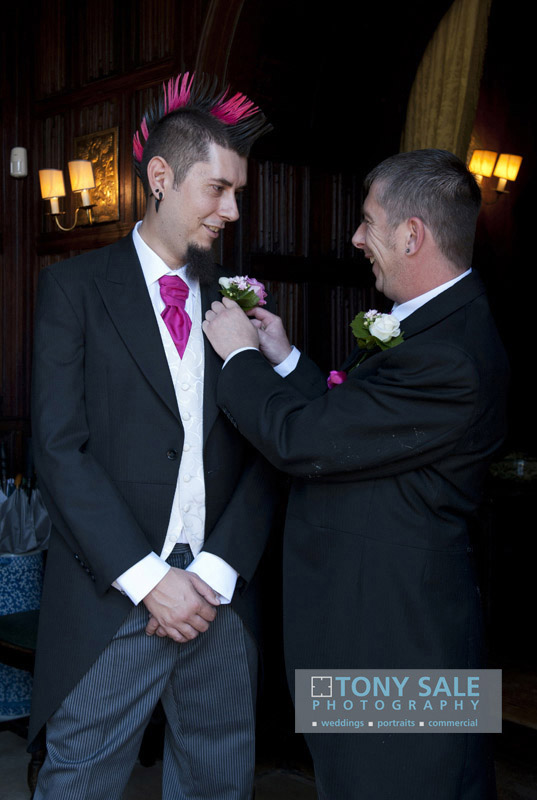 Essex wedding photography Groom and Best man