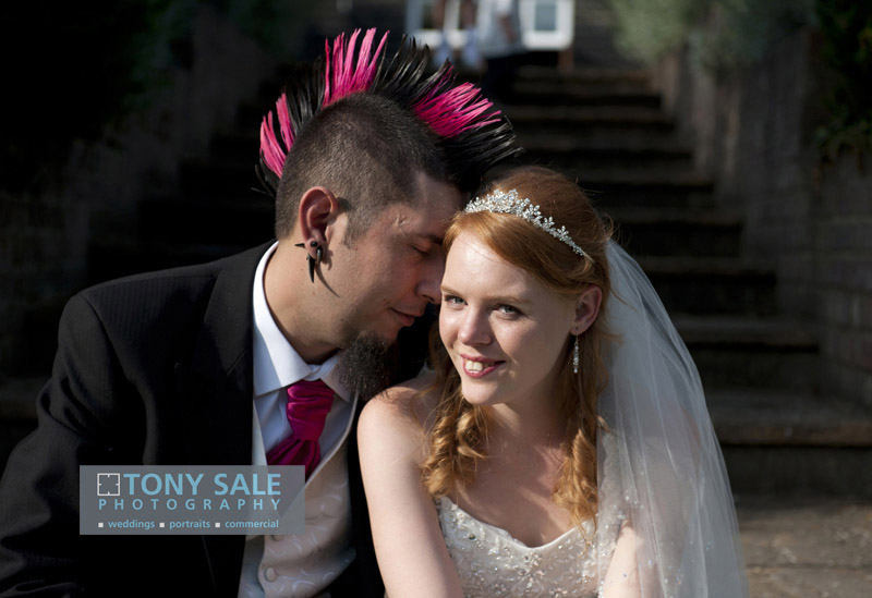 Mohican weding at Hedingham Castle Essex