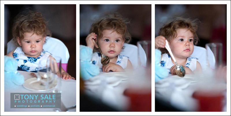 Very cute little girl at an Essex wedding