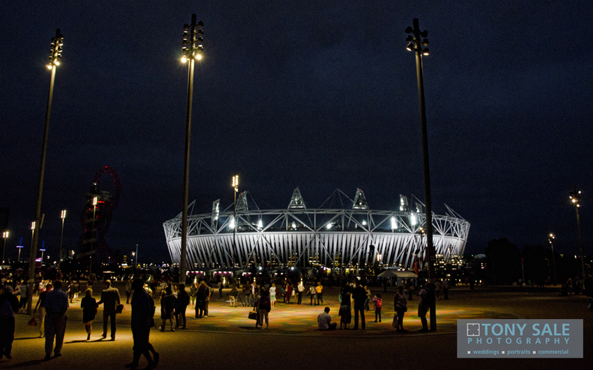 London 2012 _ Olympic Stadium at Night