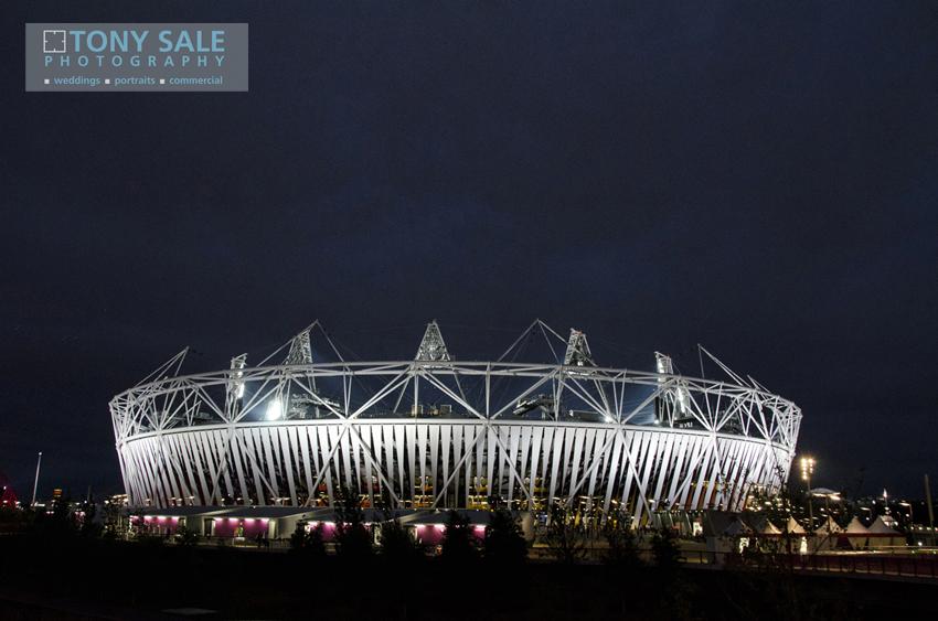 London 2012 _ Olympic Stadium at Night