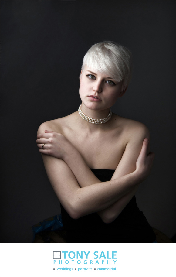 Beautifully lit model portrait