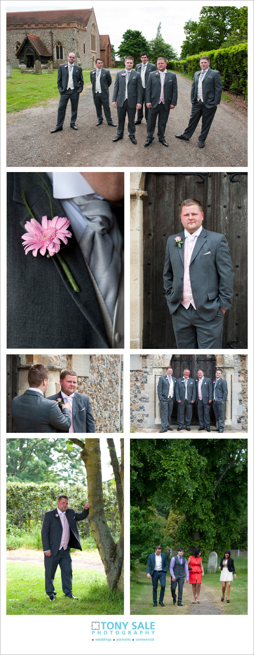 The groom at St Andrews Church Hatfield Peveral