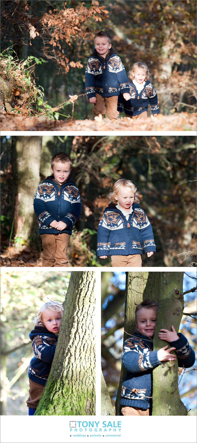 Family having fun in Gosfield Nature reserve