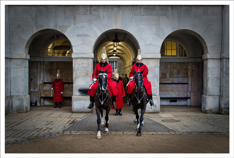 Horseguards reporting for parade