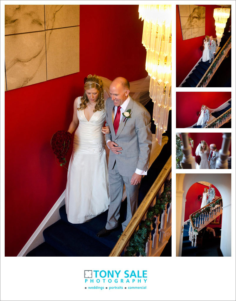 Bride and her father at Quendon Hall