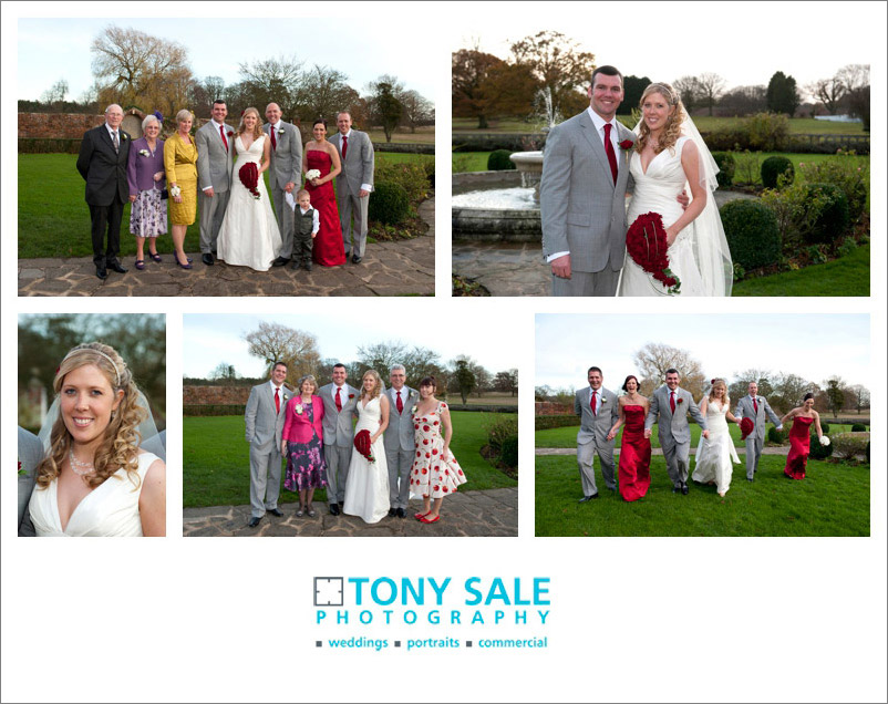 Essex wedding - Bridal party at Quendon Hall