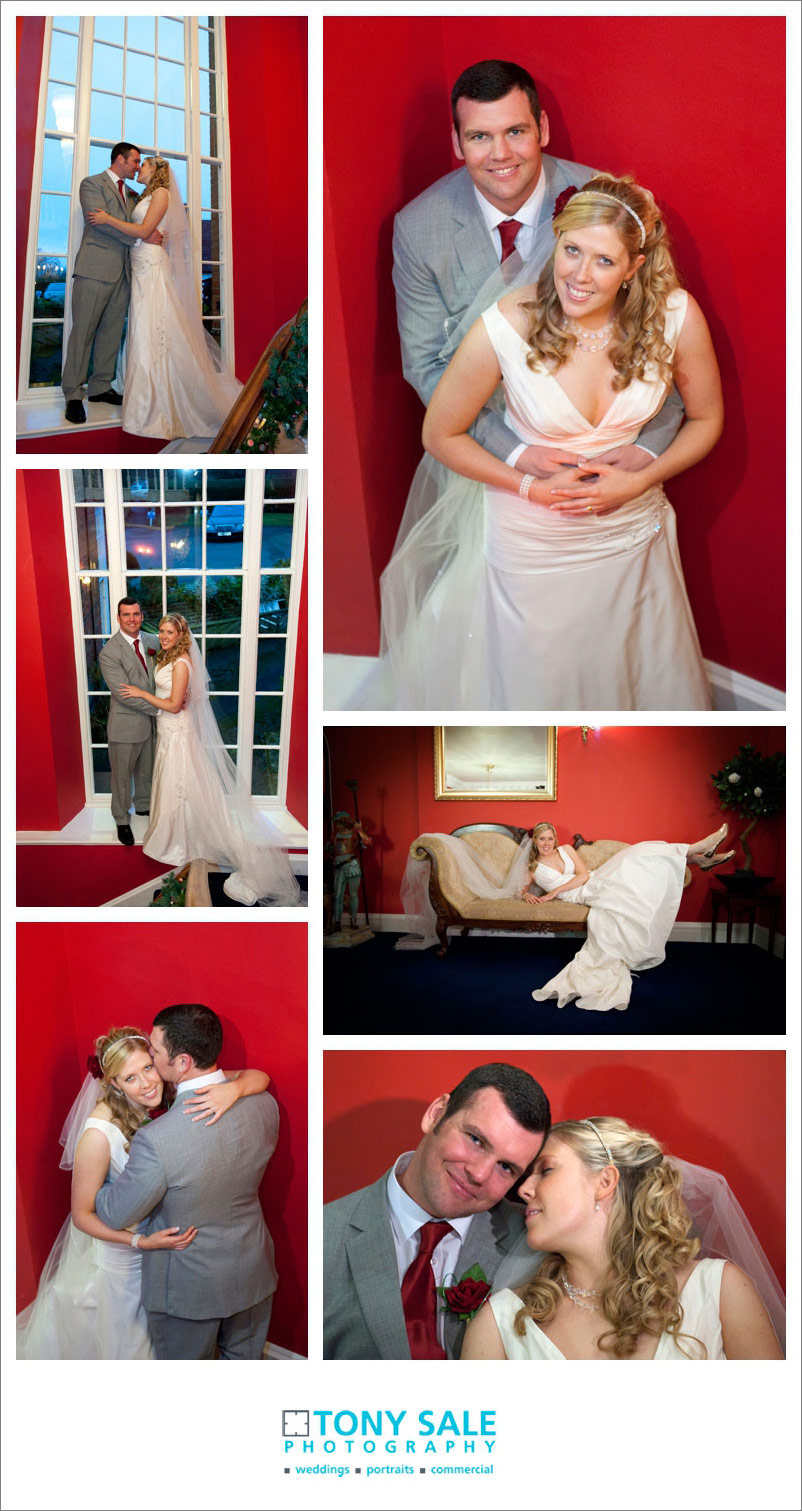 Pictures of the bride and groom