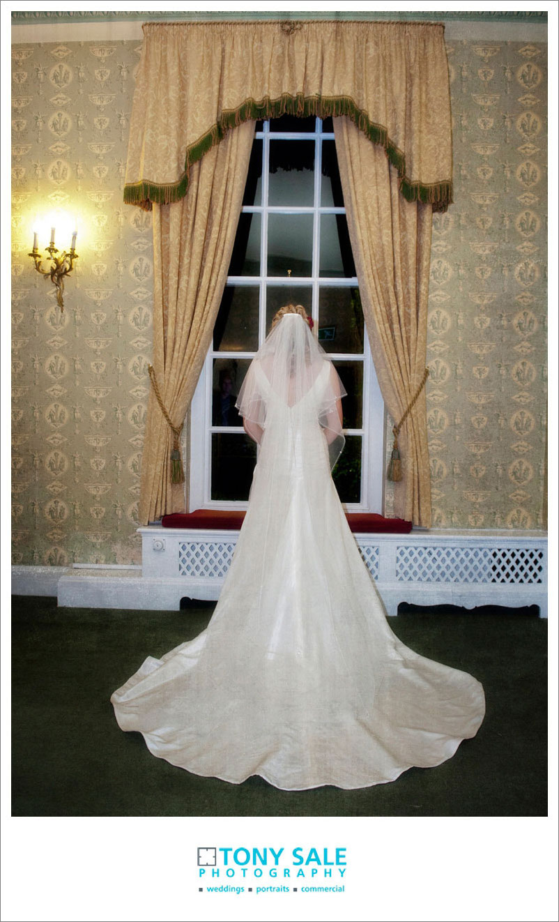A beautiful photo of the bride