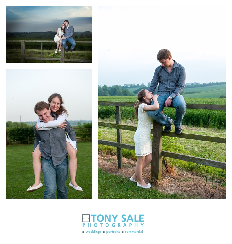 Hapy couple on an engagement photo shoot  in Essex
