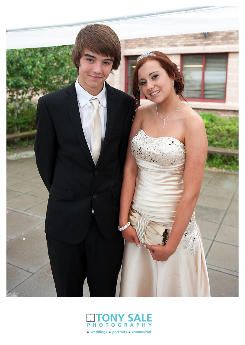 Beautiful young couple at Essex prom
