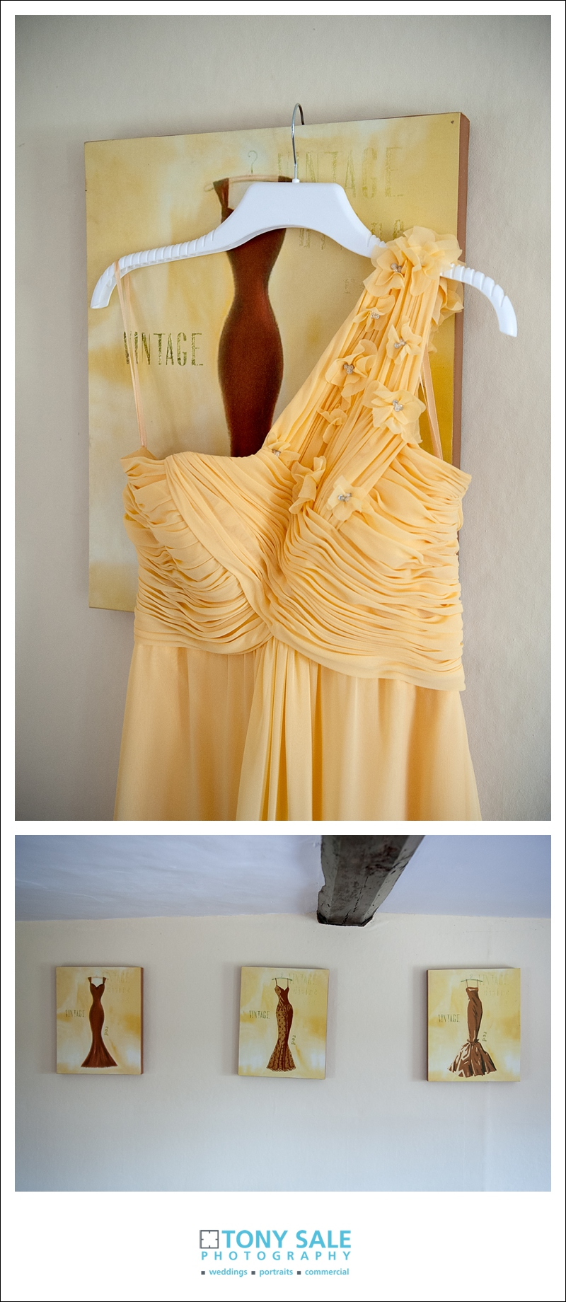 Gorgeous yellow bridesmaids dresses