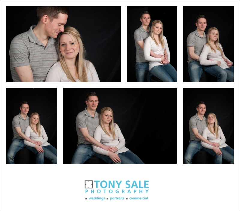 Couple posing in the photo studio Halstead