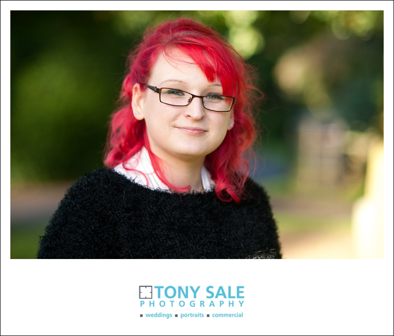 Beautiful portrait of Sam shoot with her stunning red hair