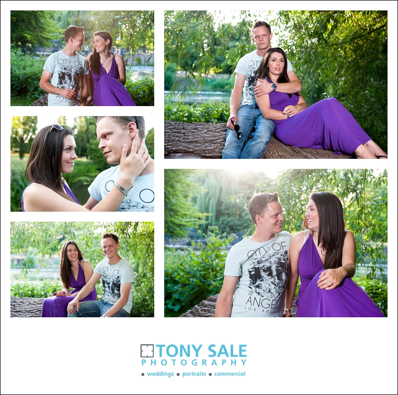 Young couple in love - pre wedding photo shoot