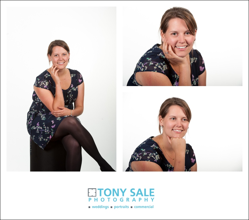 Rachel looking fantastic in the portrait studio