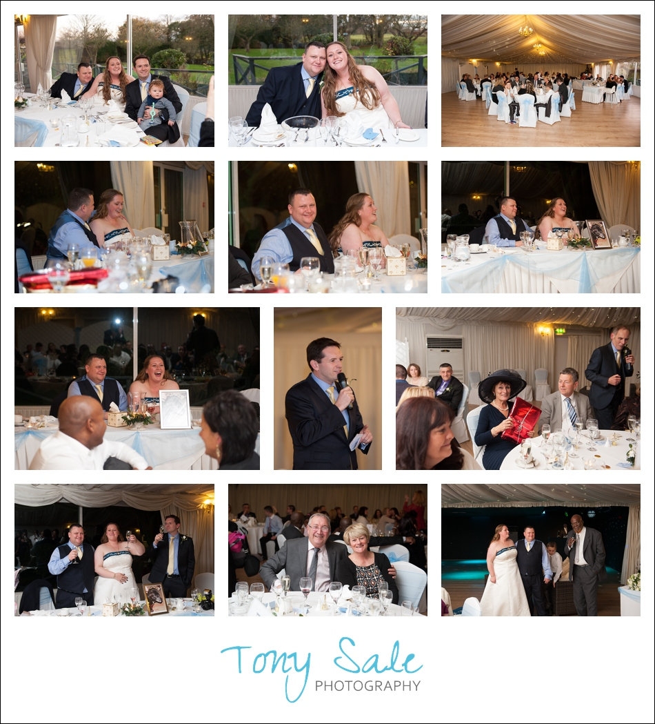 Guests enjoy the wedding breakfast and the speeches