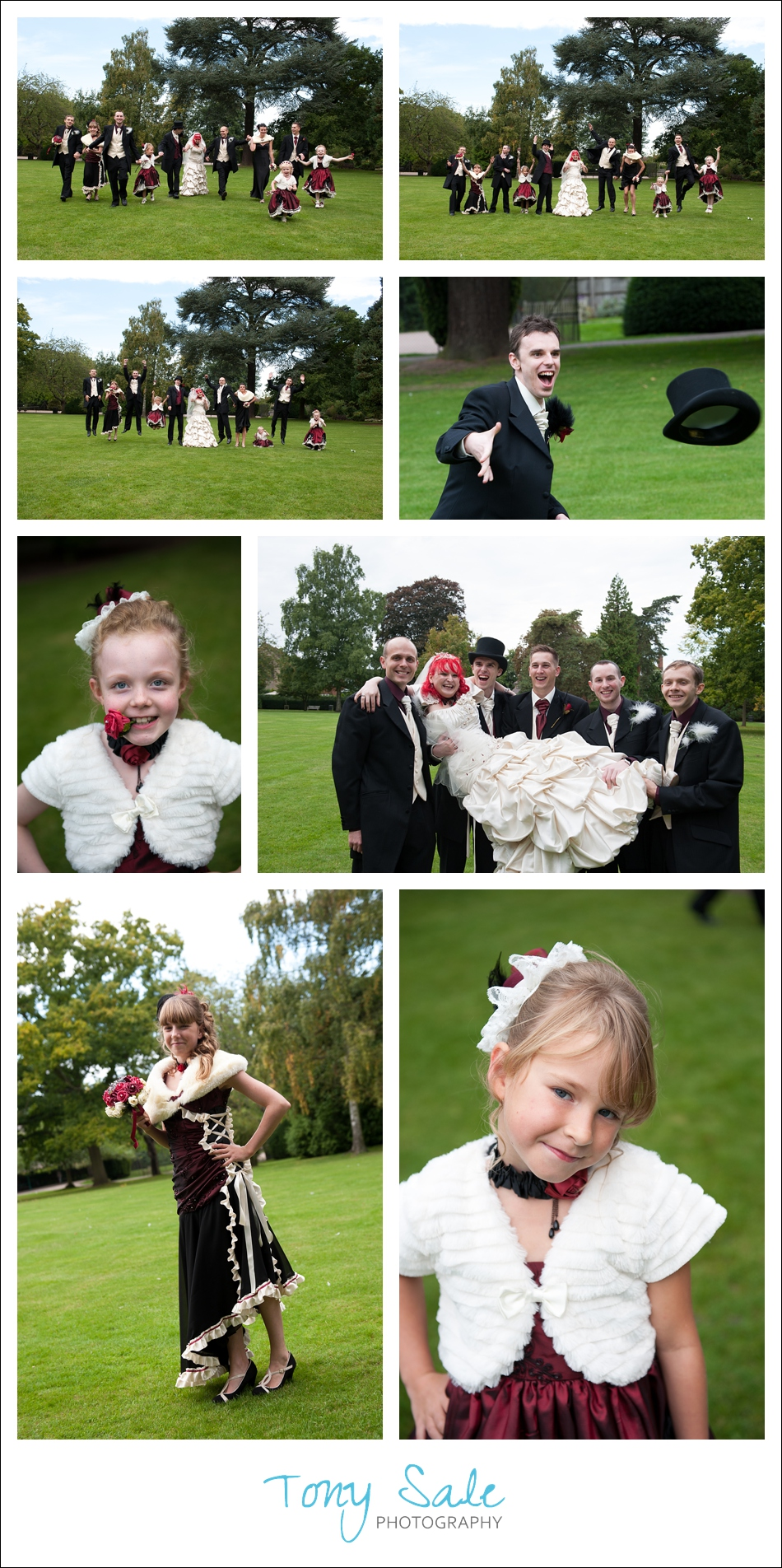 Wedding photography in Braintree - Fun with the bridal party