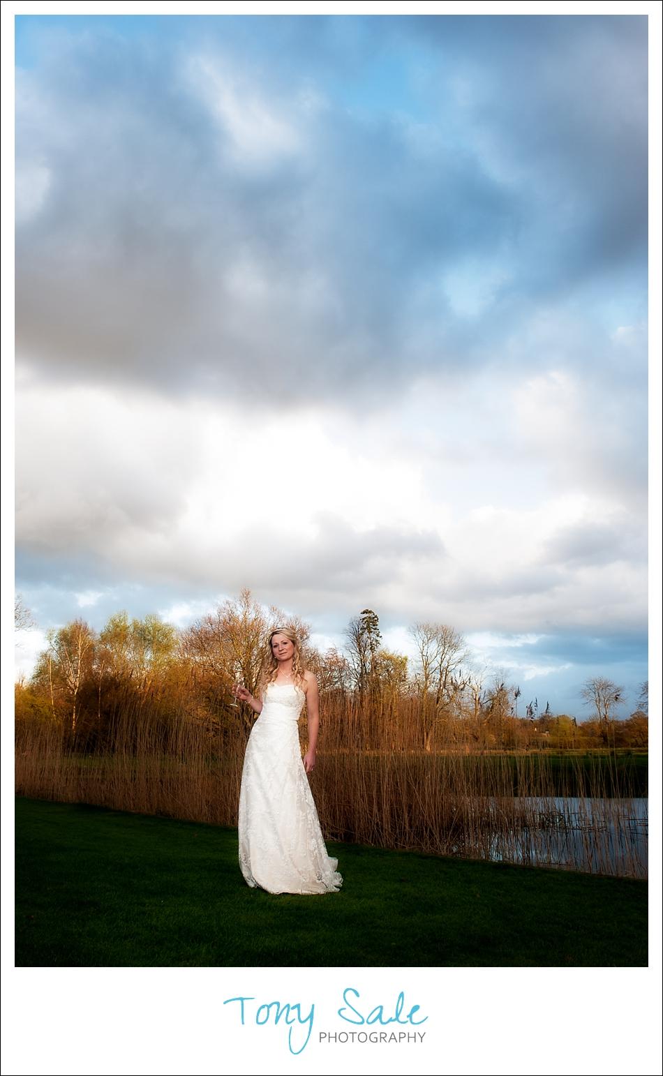 Stunning bride stunning sky!