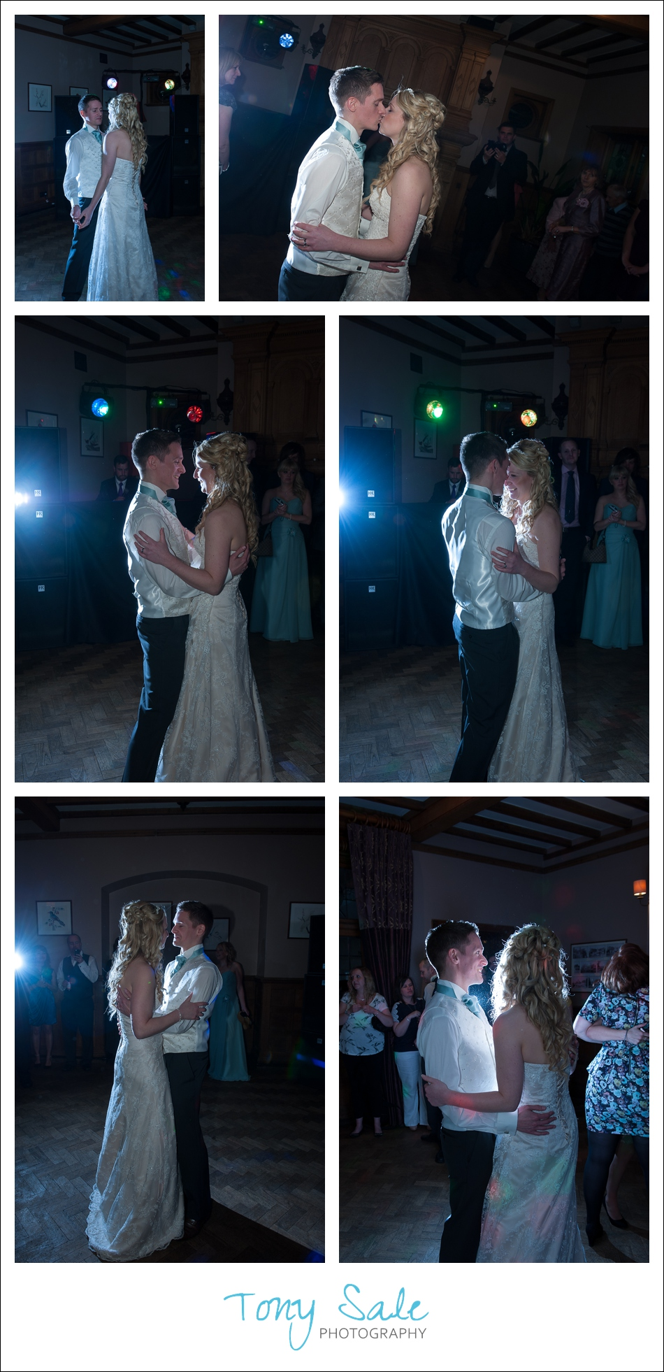 Bride and groom enjoy the first dance together
