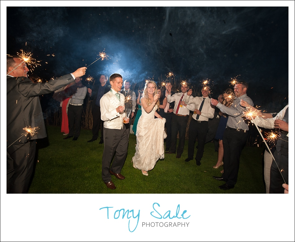 Guests light up the night with sparklers
