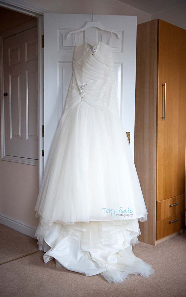 All ready to go thw wedding dress waiting to be worn