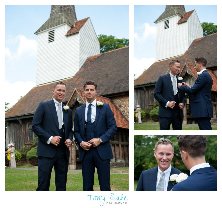 Wedding at All Saints' Church in Stock